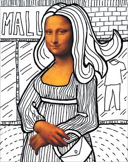 Art Projects for Kids: Make Your Own Mona Lisa. Download my free template that has just the face and hands, and have students draw in the missing parts. Enjoy! #Sharpie: