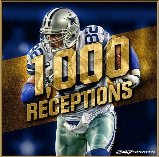 Jason Witten 1,000 receptions 12-7-2015