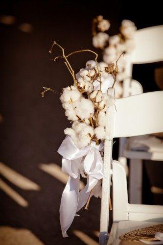 Cotton chair decor.