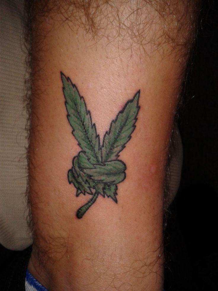 Pot Leaf Peace Sign Tattoo