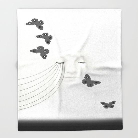 A Beautiful Sorrow Throw Blanket by Müge Başak - $49.00