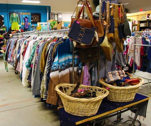 Racks upon rack of western wear.