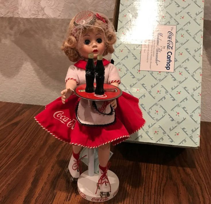 Coca Cola Car Hop Doll By Madame Alexander The Danbury Mint. http://etsy.me/2Fe74GX #toys #birthday #christmas #cocacola #doll #lovelifeincolor