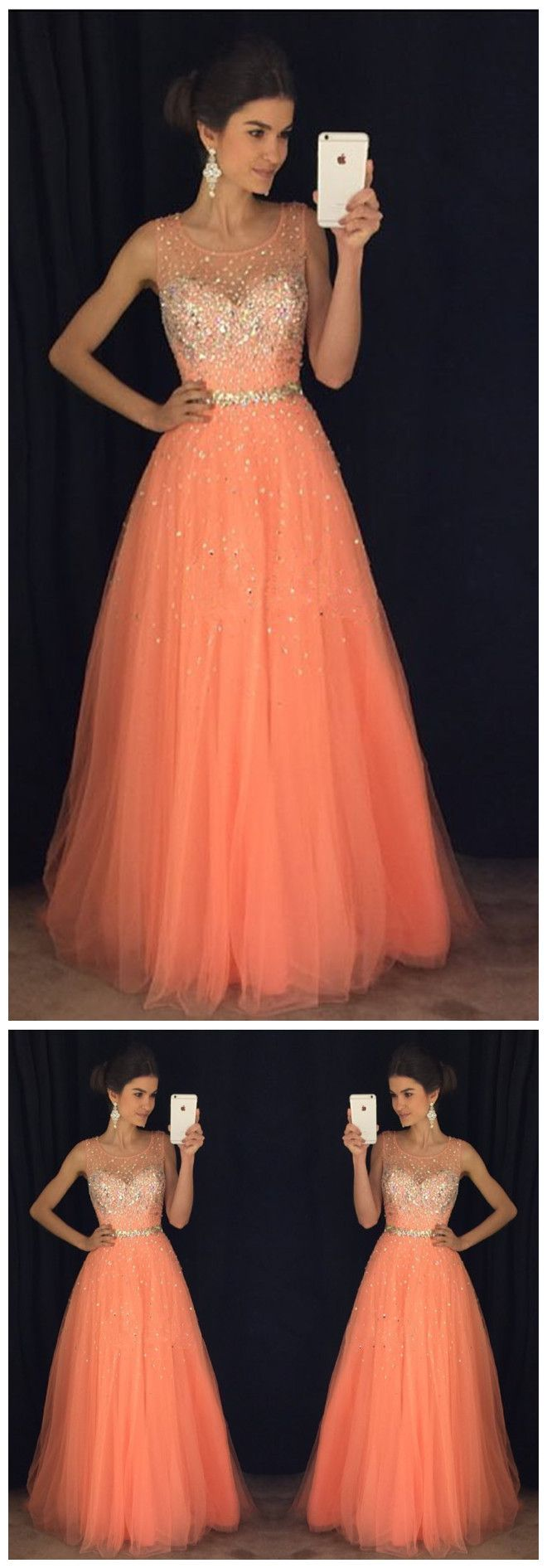 New Arrival Prom Dress,Modest Prom Dress,coral prom dresses,cap