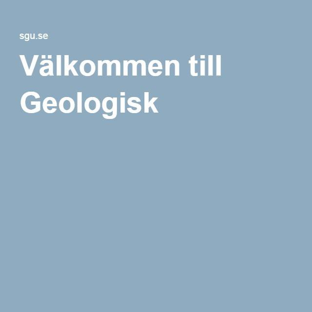 Välkommen till Geologisk