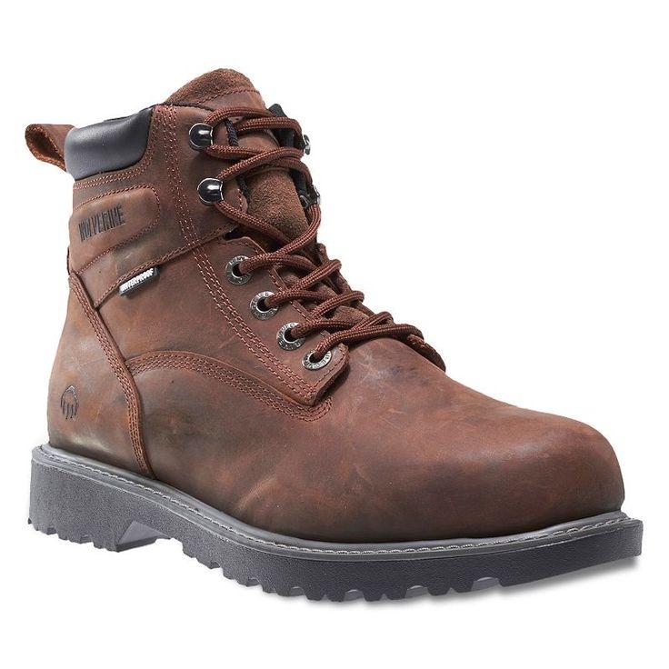 Wolverine Floorhand Men's Steel Toe Waterproof Work Boots, Dark Brown
