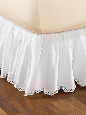 Crochet Edge Bed Skirt | LinenSource