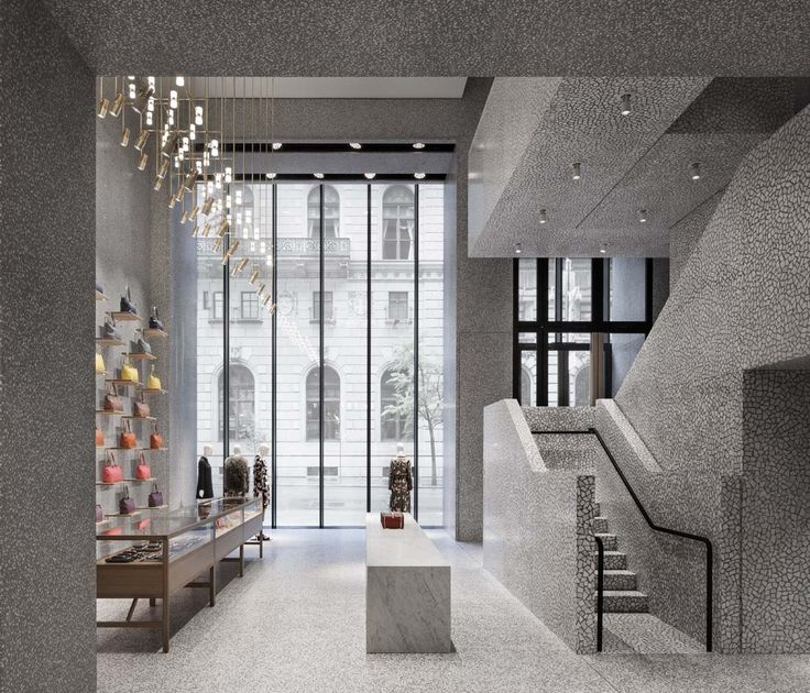 David Chipperfield Architects Valentino New York Flagship Store Grey terrazzo and palladiana marble
