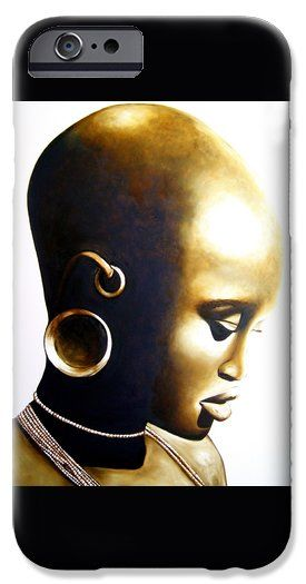 African Lady iPhone 6 Case by Tracey Armstrong