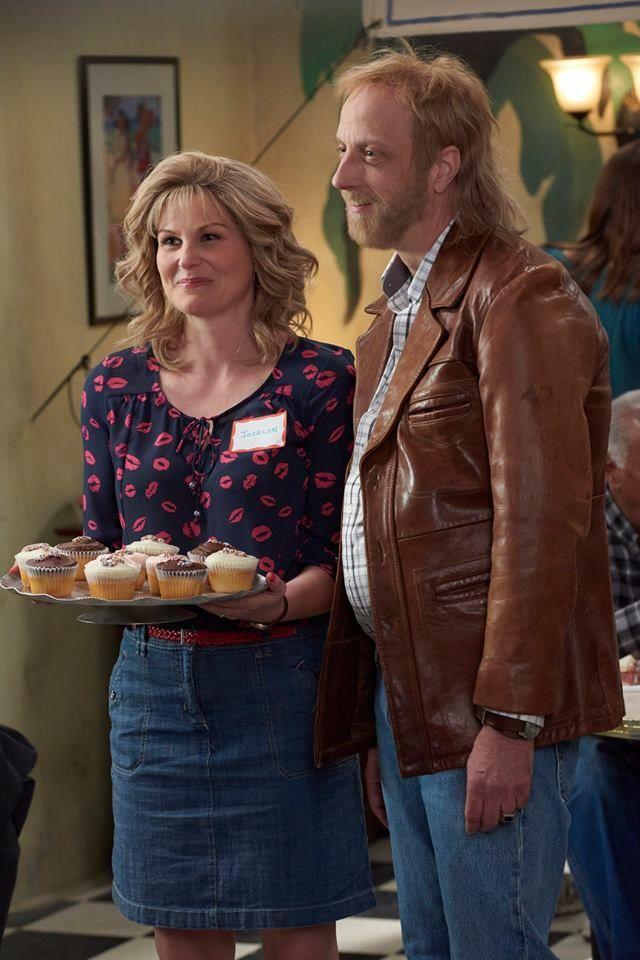 Chris Elliott and Jennifer Robertson in Schitt's Creek (2015