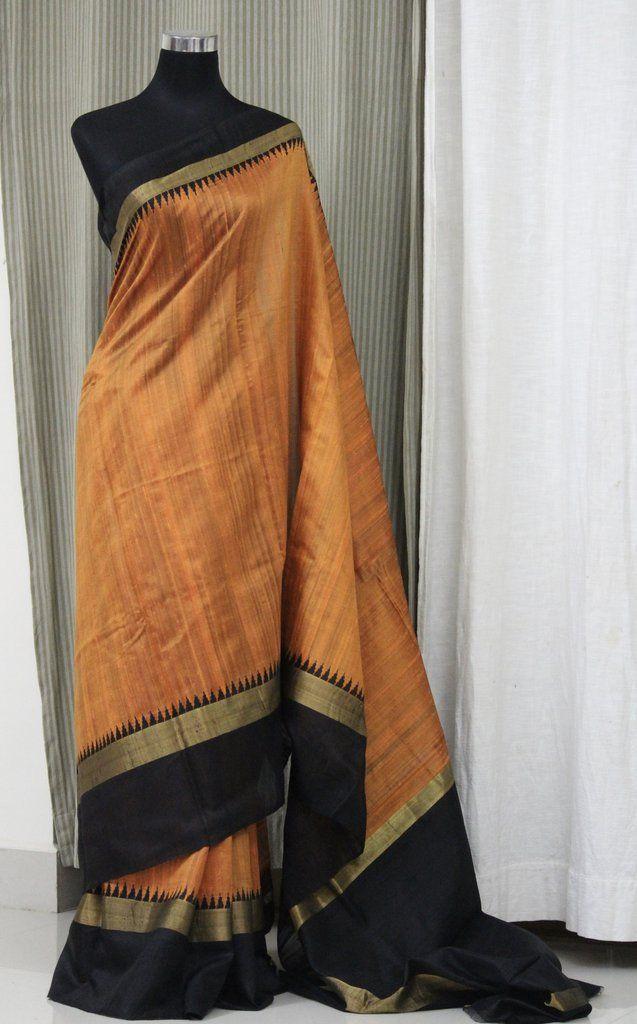 Handloom pure raw silk saree