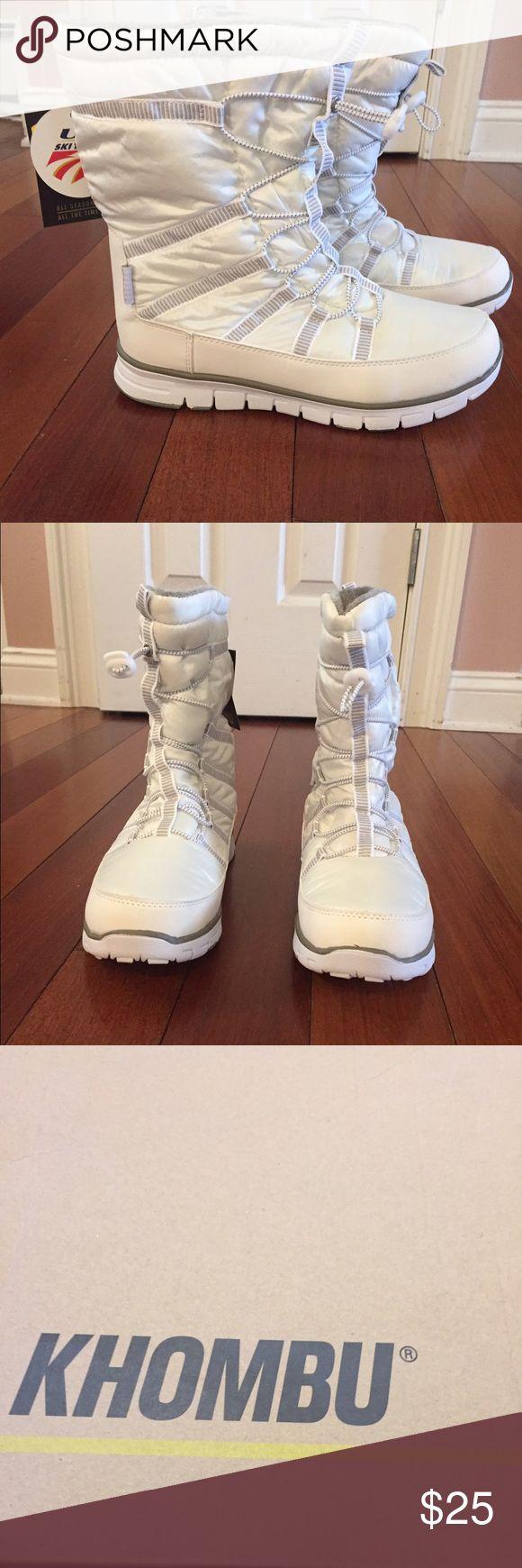 Khombu winter boots White winter boots size 9. New. Khombu Shoes Winter & Rain Boots