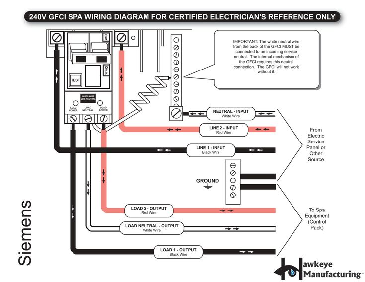 Wiring Diagram Eaton Gfci Breaker Collection Spa Within Hd