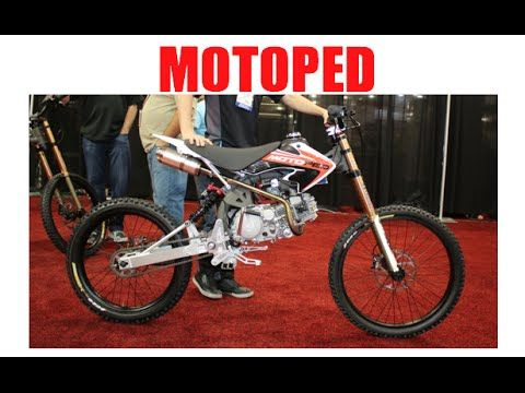 MOTOPED - cross between a downhill MTB and a moped :SEMA 2015 - YouTube