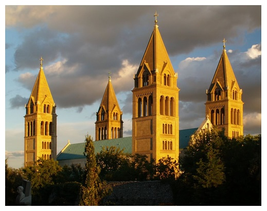 Pécs, Cathedral, Hungary,,,,, Pecs is the derivative of my family's last name