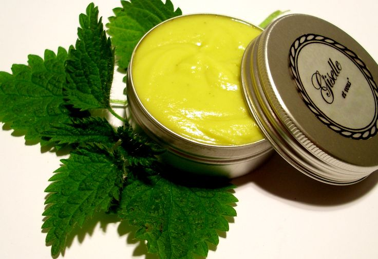Nettle Body Balm / herbal ingredients: nettle, sage, mint  Other: jojoba oil, essential oils, cocoa butter, vitamin e, water source / 100% natural organic product / Giselle et Vous.