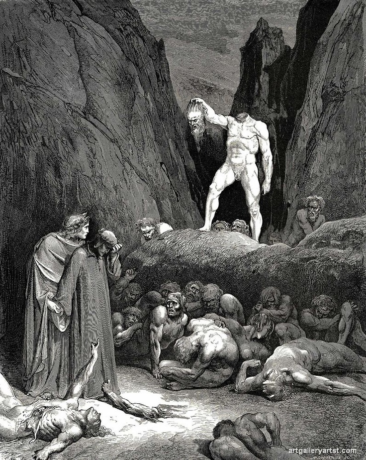Gustav Dore, Inferno, The Devine Comedy, Dante