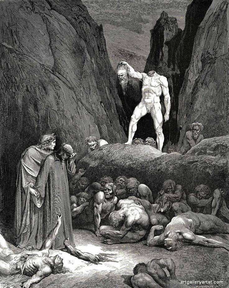 Gustav Dore, Inferno, The Devine Comedy, Dante