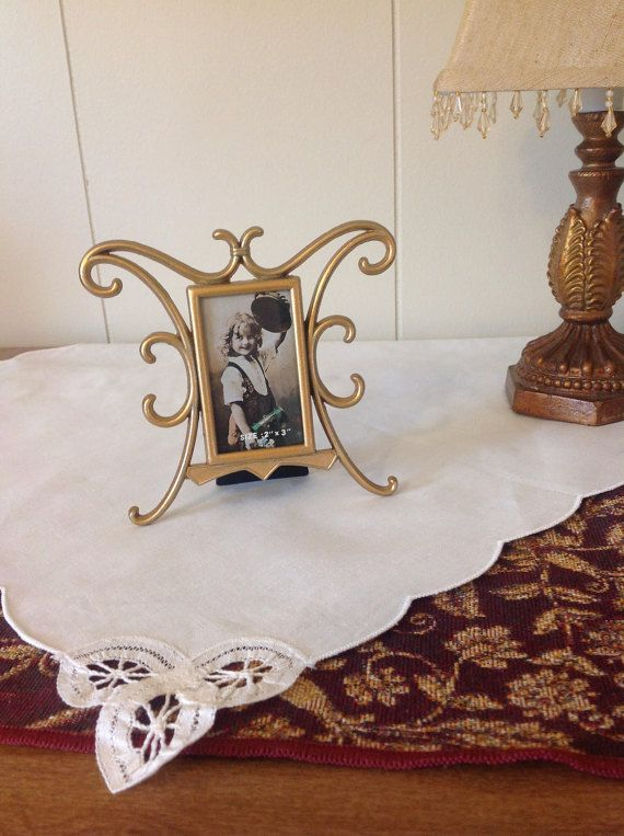 Small 2x3 Gold Metal Picture Frame by SparrowWoodCottage on Etsy