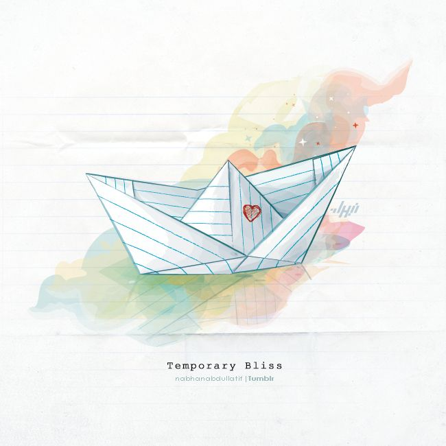Temporary Bliss, paper boat