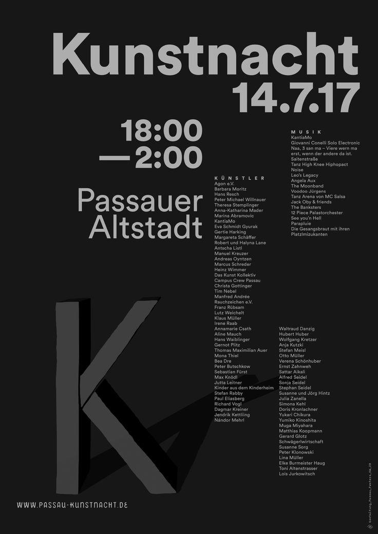 passau poster kw_28 #kunstnacht #passau #altstadt #eulenspiegel #poster #plakat #typography #graphic_design #black_and_white #pure_typography #design #prints #inspiration
