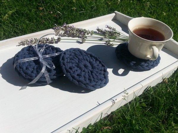 Mięciutkie, naturalne podkładki wykonane na szydełku  z grubego sznurka bawełnianego ( 0,5 cm)  poch...
