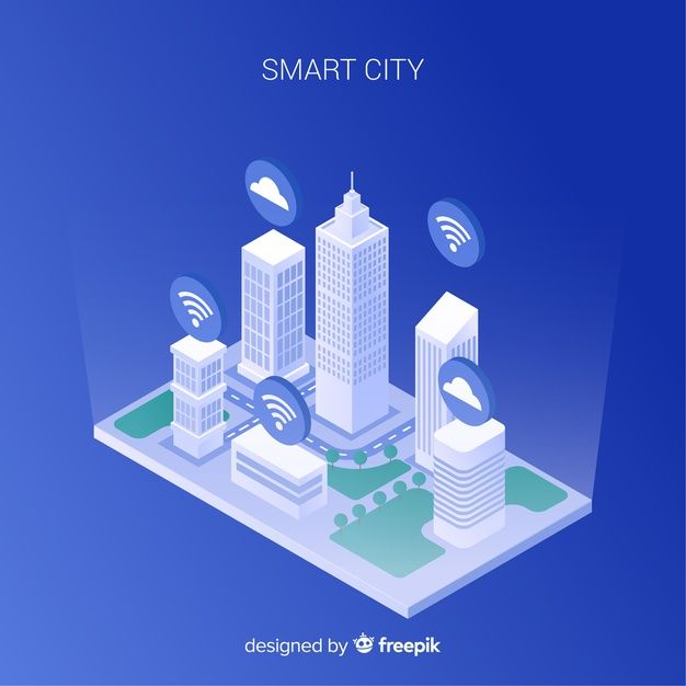 Download Smart City Isometric Background For Free Smart City City Vector Free