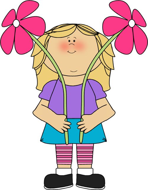94 best flowers clip art images on pinterest art flowers rh pinterest com clipart of a girl holding flowers clipart girl holding flower