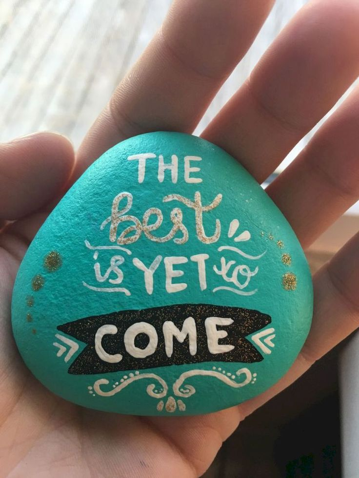 Best painted rock art ideas with quotes you can do (42)