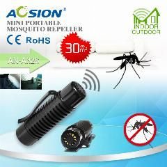 [ 55% OFF ] Aosion Clip-On Battery Operated Chemical Free Long Lasting Protection Using Audible Sound Mosquito Repeller