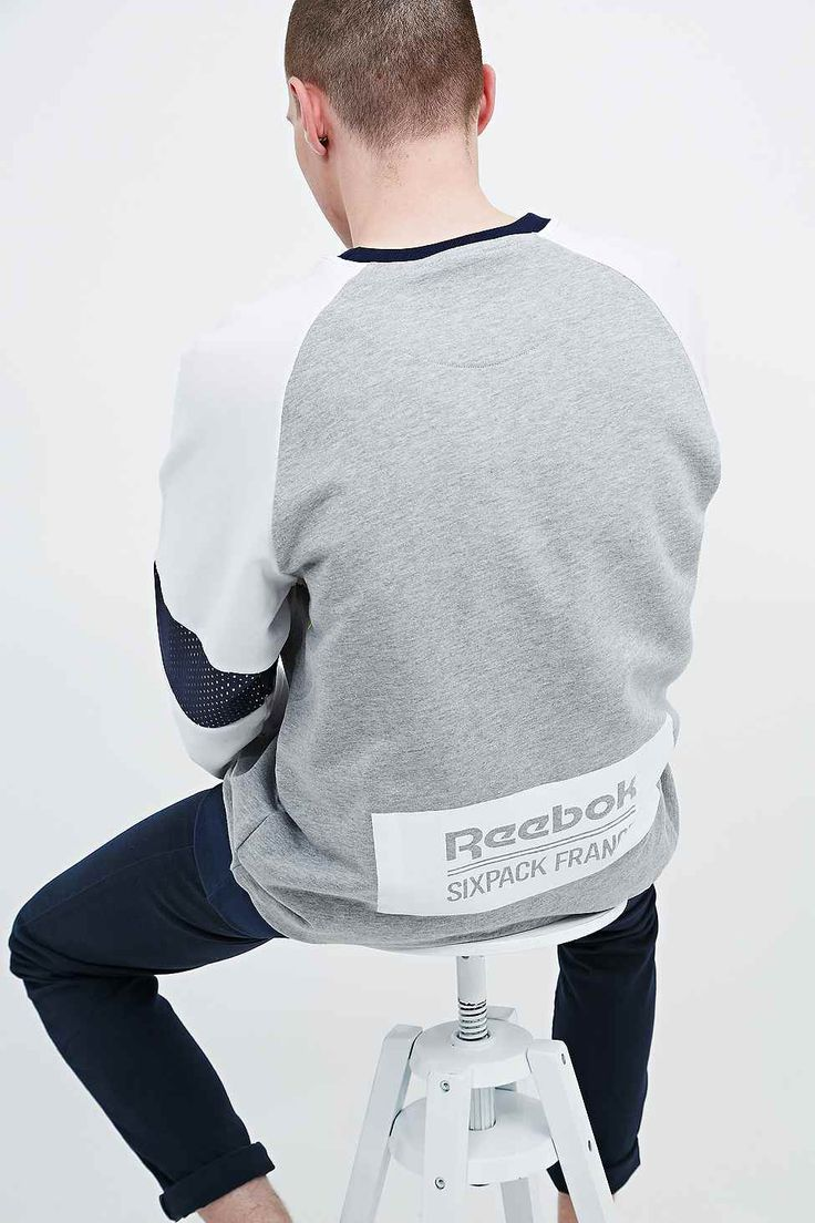 Reebok X Sixpack France Mesh Panel Sweatshirt in Grey - Urban Outfitters