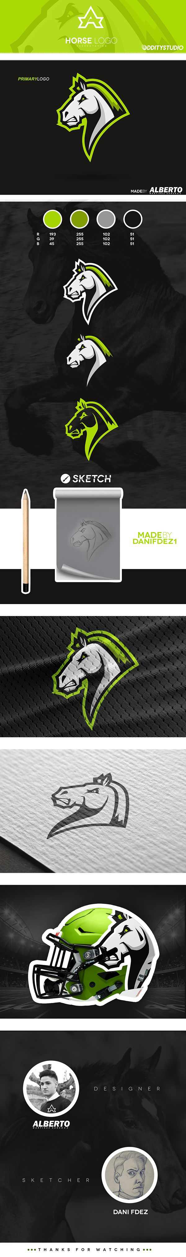 Horse Mascot Logo, for sale
