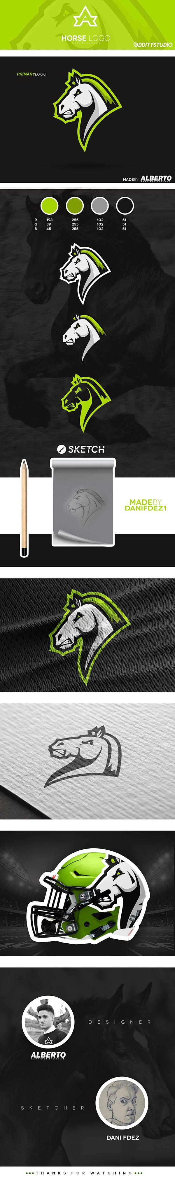 Horse Mascot Logo, for sale