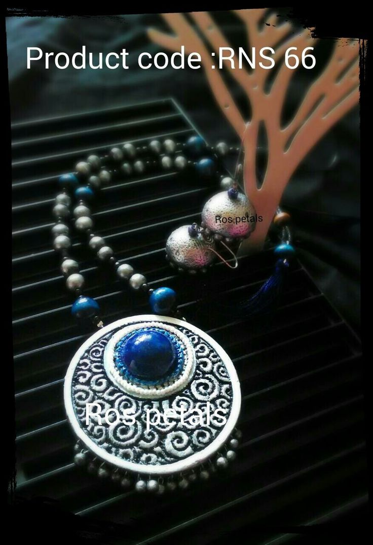 Handmade clay jewellery from Ros petals