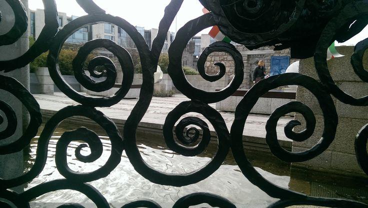 DUBLIN CASTLE .love the iron work