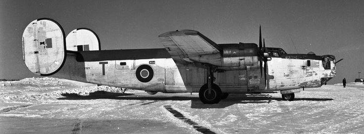 Consolidated B-24 Liberator G.R. VI, RCAF (Serial No. 3727), 'T', No. 11 (BR) Squadron, Summerside, Prince Edward Island, 19 Feb 1945.