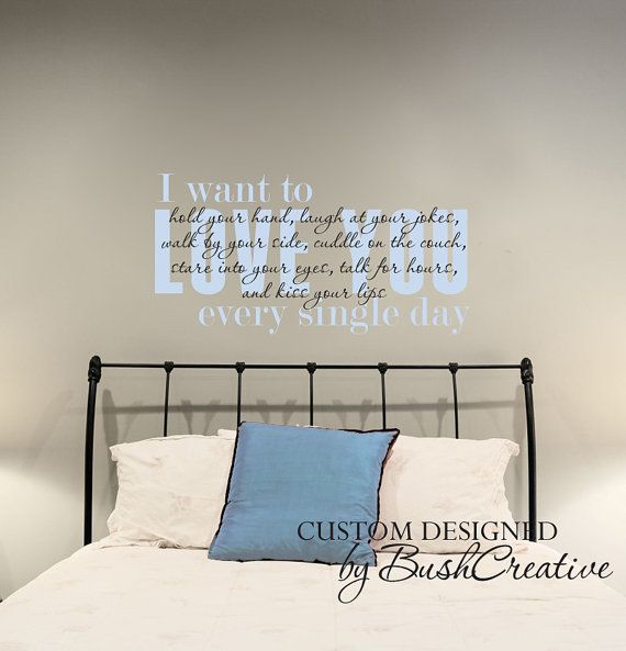 122 best bushcreative wall decals images on pinterest for Bedroom vinyl quotes