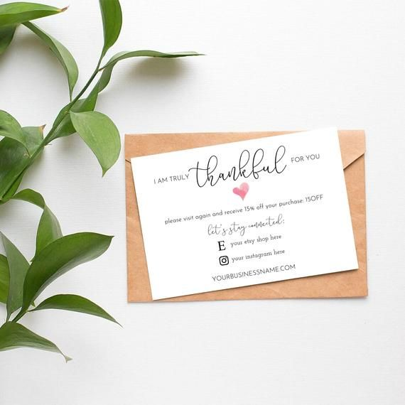 Thank You For Your Business Cards Thank You For Your Order ...