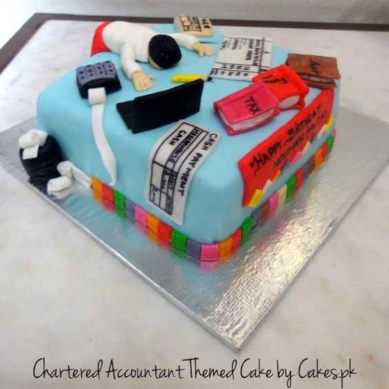 Image Result For 2 Tier Accountant Cake Cake Decor