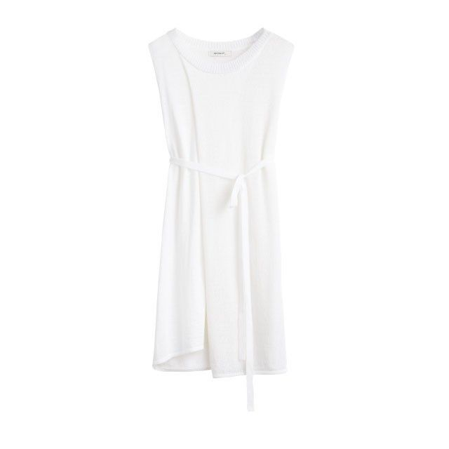 Sandwich Clothing Knitted Tunic Top White