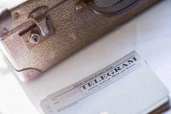 telegram guest book cards printing onto kraft paper