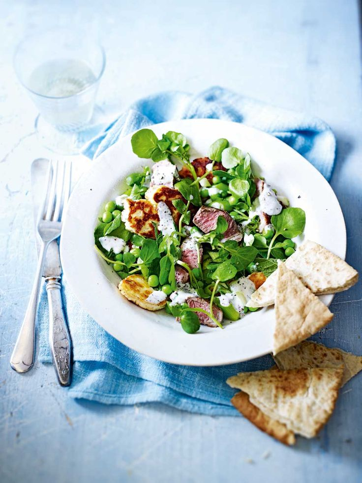 A Cypriot-inspired salad recipe that's substantial enough to eat for dinner.