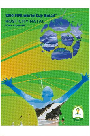 FIFA World Cup 2014 Official Venue Poster - Natal ~available at www.sportsposterwarehouse.com #E3