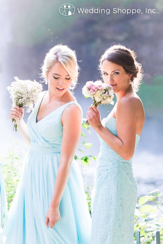 The perfect spring bridesmaid dresses from The Wedding Shoppe.