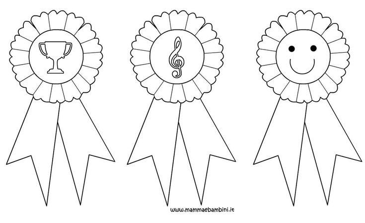 medaglie di carta x bambini - Cerca con Google