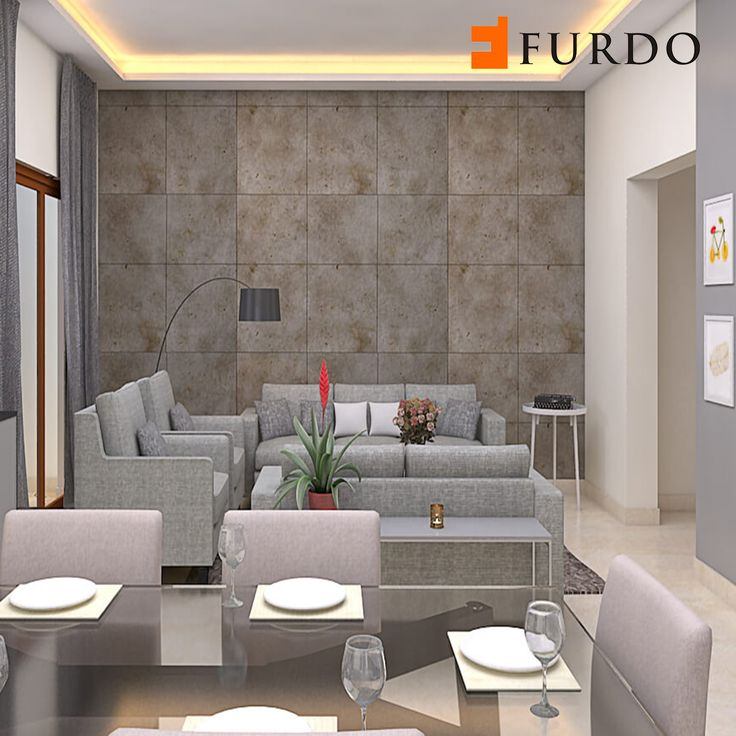 Grey Monochrome Living Room By Furdo
