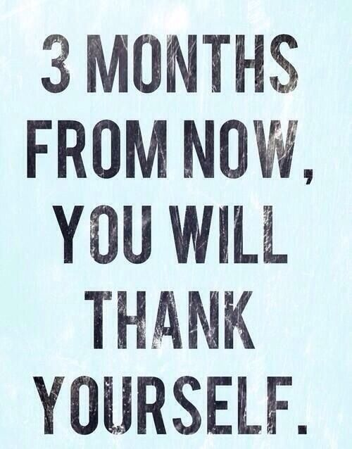 3 months from now is July!! That means Summer time! Get in shape with our Total Body Transformation Program :-)