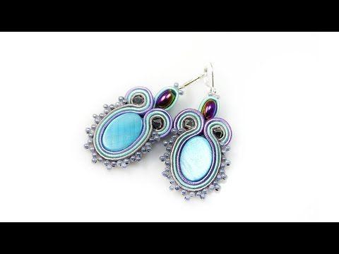 Soutache earrings - tutorial DIY - YouTube