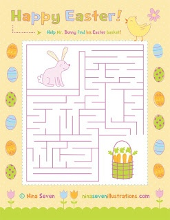 We Love to Illustrate: Happy Easter Treats! (Cute Easter crafts - maze, coloring pages, recipes, other crafts...etc.)
