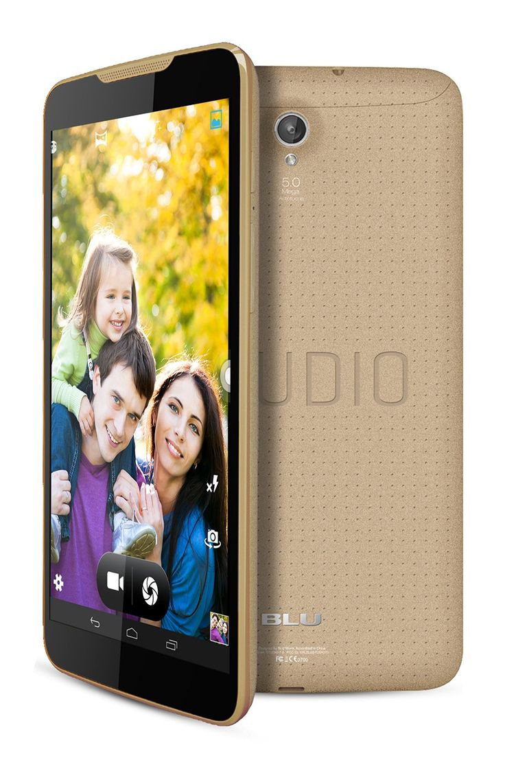 BLU Studio Unlocked 4G 7.0 inches Android 4.4 (Kit Kat) 8GB 5MP rear camera 2MP front Camera 4G HSPA+ up to 21Mbps Smartphone in Gold with 5% discount. Buy now online froma Amazon USA at $ 141.25 with FREE Shipping